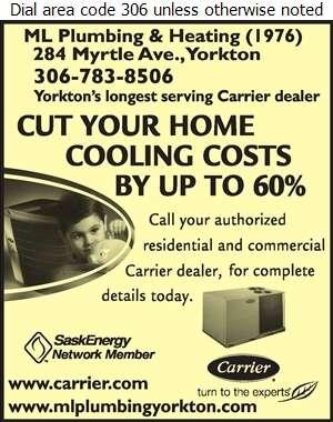 M L Plumbing & Heating (1976) Ltd - Air Conditioning Contractors Digital Ad