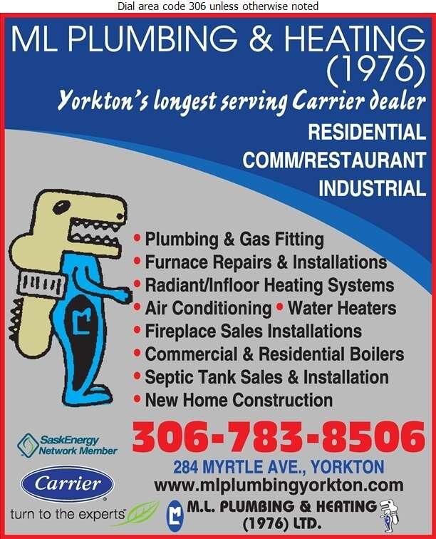 M L Plumbing & Heating (1976) Ltd - Plumbing Contractors Digital Ad