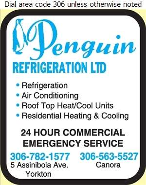 Penguin Refrigeration Ltd - Refrigerating Equipment Commercial Sales & Service Digital Ad