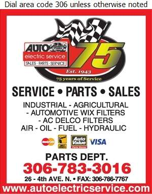 Auto Electric Service - Filters Air & Gas Digital Ad