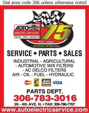 Auto Electric Service Ltd - Filters Air & Gas Digital Ad