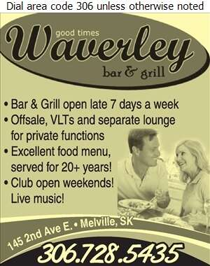 Waverley Bar & Grill - Restaurants Digital Ad