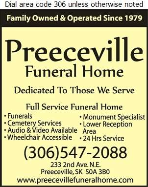 Preeceville Funeral Home - Funeral Homes & Planning Digital Ad