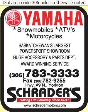 Schrader's Honda Yamaha Suzuki - Snowmobiles Digital Ad