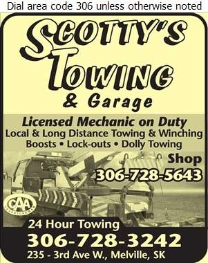 Scotty's Garage & Towing - Towing & Boosting Service Digital Ad