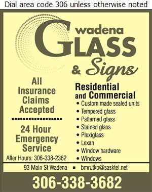 Wadena Glass & Signs - Glass Auto, Float, Plate, Window Etc Digital Ad