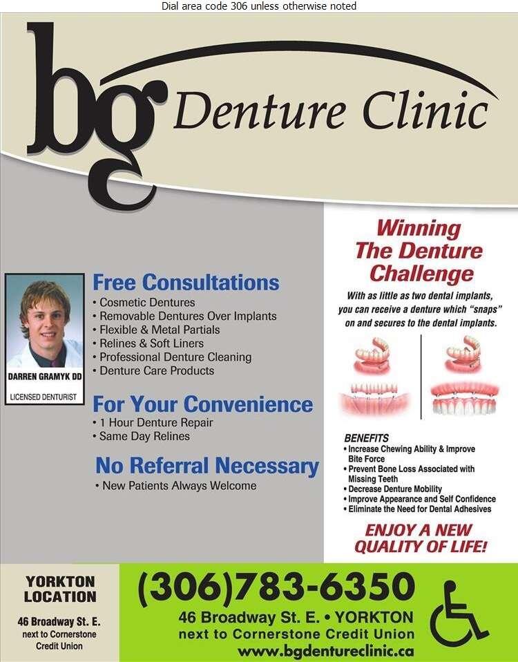 B G Denture Clinic - Denturists Digital Ad