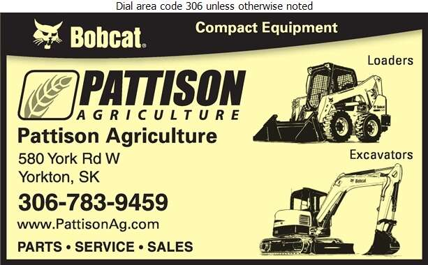 Pattison Agriculture Limited Yorkton - Contractors Equipment Supplies & Service Digital Ad