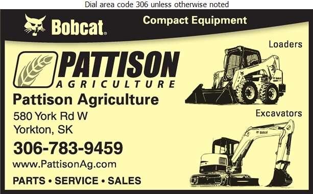 Pattison Agriculture - Contractors Equipment Supplies & Service Digital Ad
