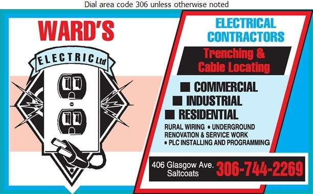 Ward's Electric Ltd (Shop) - Electric Contractors Digital Ad