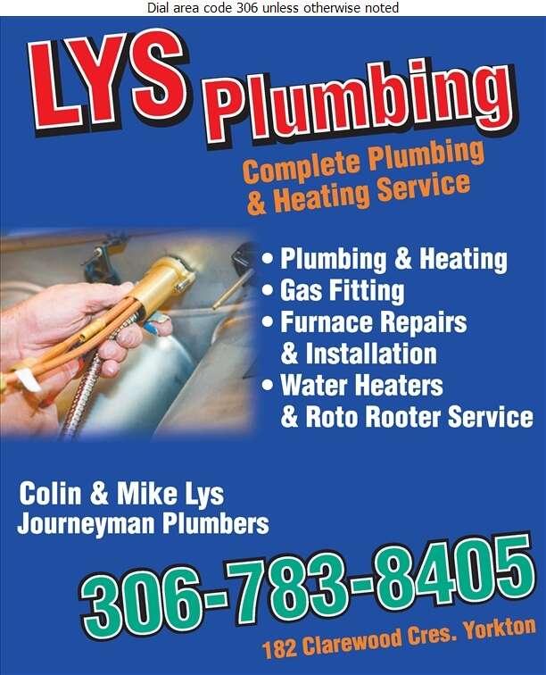 Lys Plumbing - Plumbing Contractors Digital Ad