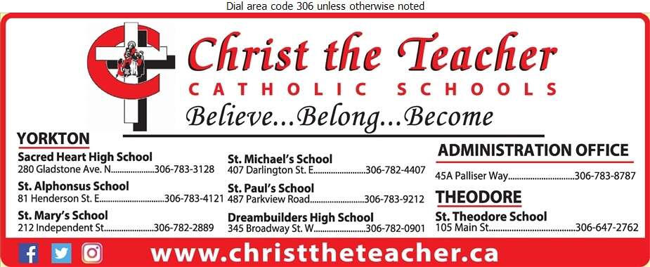 Christ the Teacher Catholic Schools (Dreambuilders High School) - School Boards Digital Ad