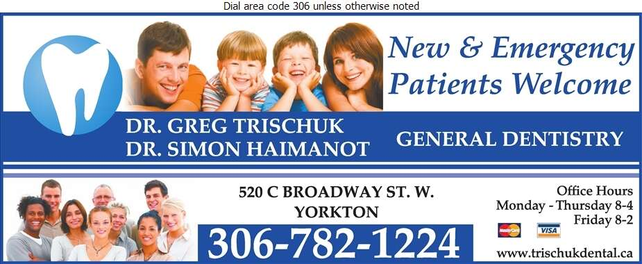 Trischuk B W Dr - Dentists Digital Ad