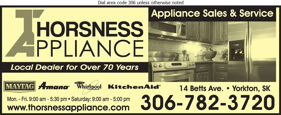 Thorsness Appliance - Appliances Major Sales, Service & Parts Digital Ad