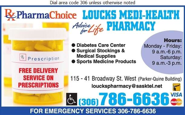 Loucks Medi-Health Pharmacy Ltd - Pharmacies Digital Ad