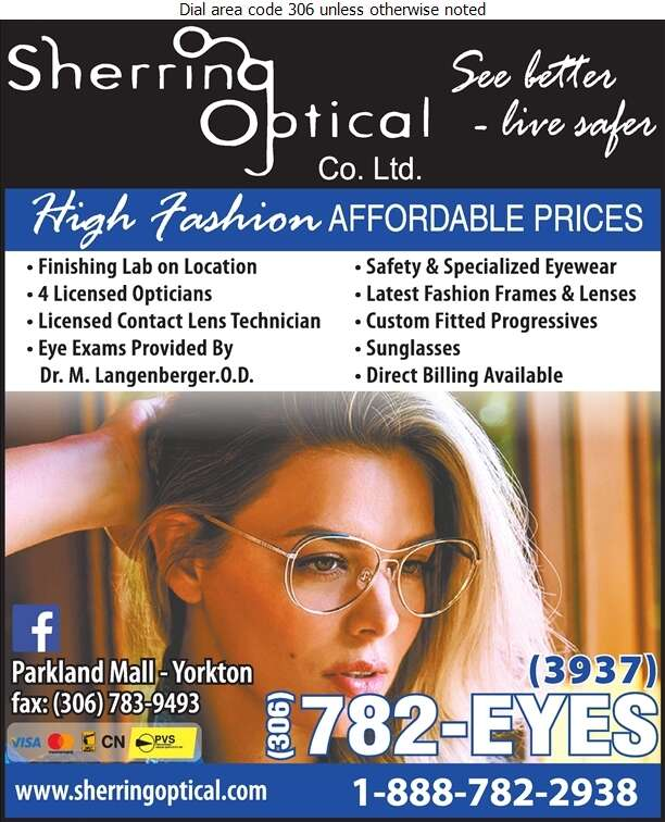 Sherring Optical Co Ltd - Optical Dispensers Digital Ad