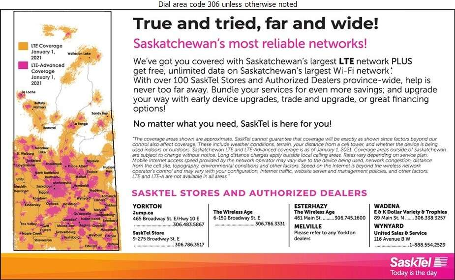 SaskTel Wireless - Cellular Telephones Digital Ad