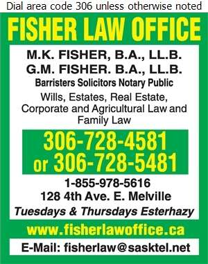 Fisher Law Office - Lawyers Digital Ad
