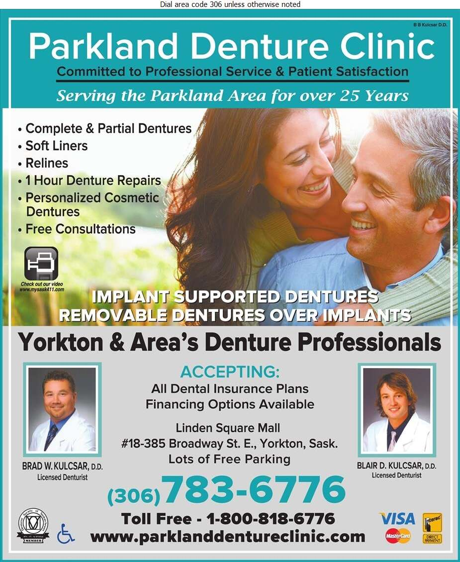 Parkland Denture Clinic - Denturists Digital Ad
