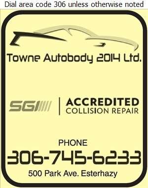 Towne Autobody Ltd - Auto Body Repairing Digital Ad