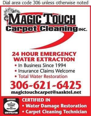 Magic Touch Carpet Cleaning - Carpet & Rug Cleaners Digital Ad