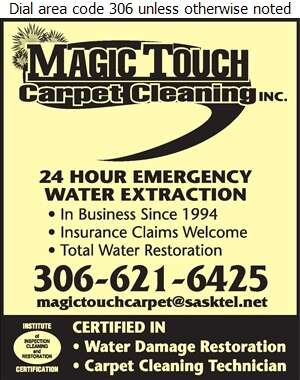Magic Touch Carpet Cleaning - Flood Damage Restoration & Floodproofing Digital Ad