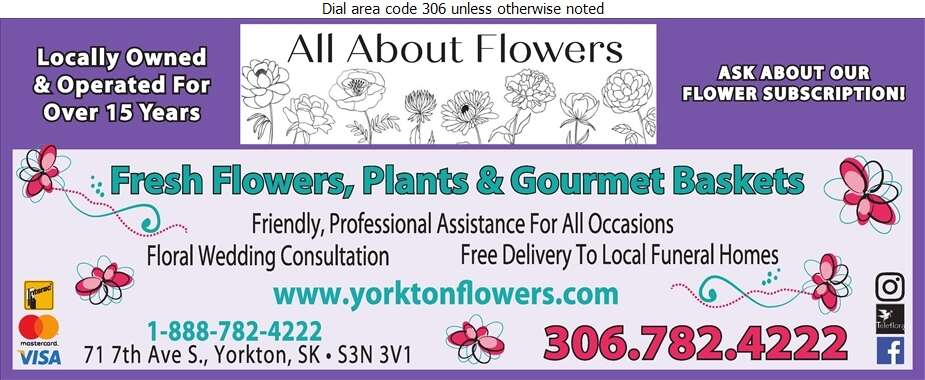 All About Flowers Gourmet Gifts & Home Decor - Florists Retail Digital Ad