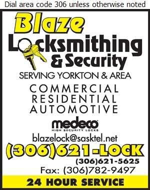 Blaze Locksmithing & Security - Locksmiths Digital Ad