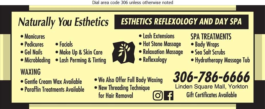 Naturally You Esthetics - Beauty Salons Digital Ad