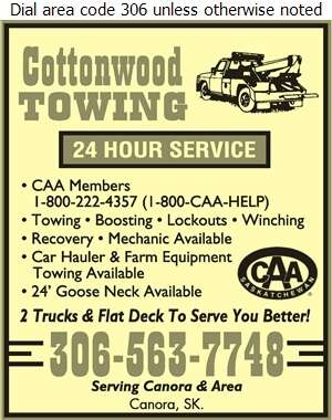 Cottonwood Towing - Towing & Boosting Service Digital Ad