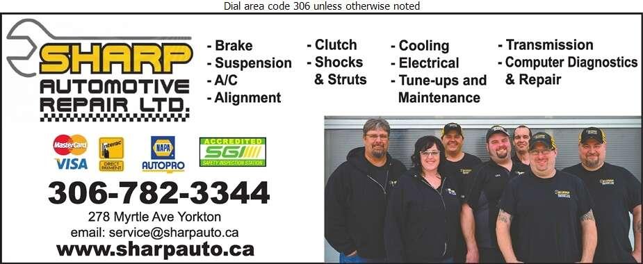 Sharp Automotive Repair Ltd - Auto Repairing Digital Ad