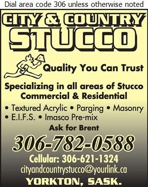 City & Country Stucco - Stucco Contractors Digital Ad