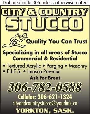 City & Country Stucco - Stucco Contractors Digital Ad