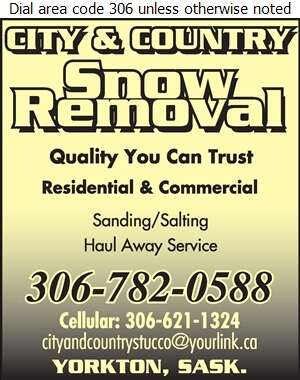 City & Country Stucco - Snow Removal Service Digital Ad