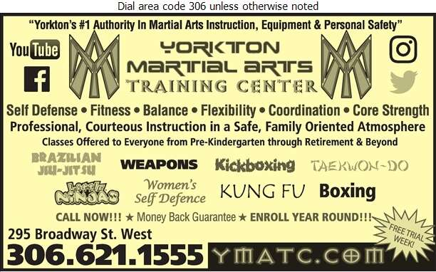 Yorkton Martial Arts Training Center - Martial Arts Instruction Equipment & Supplies Digital Ad