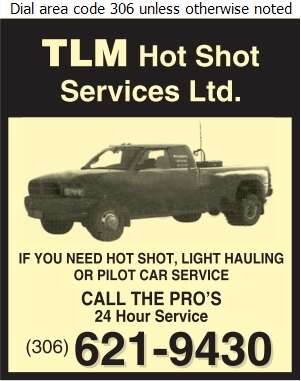 TLM Hot Shot Services Ltd - Hot Shot Services Digital Ad