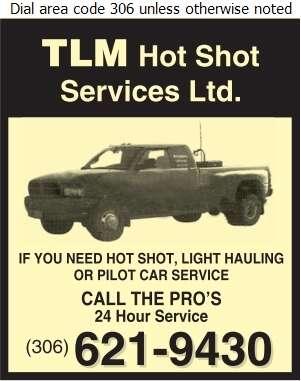 TLM Hot Shot Services Ltd - Hot Shot Services Digital Ad