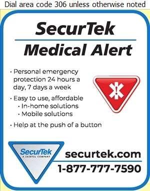 SecurTek - A SaskTel Company - Medical Alarms Digital Ad