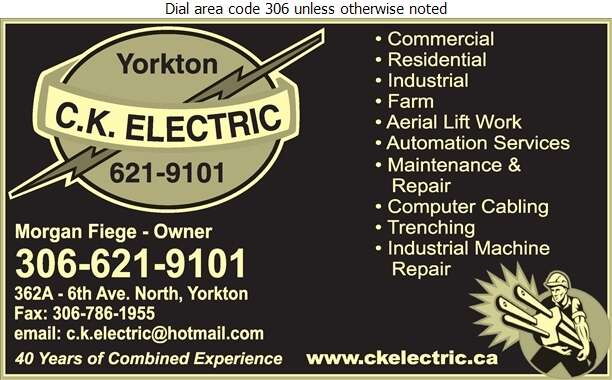 C K Electric Inc - Electric Contractors Digital Ad