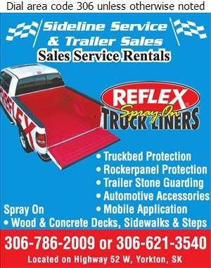 Sideline Service And Trailer Sales - Truck Accessories Digital Ad