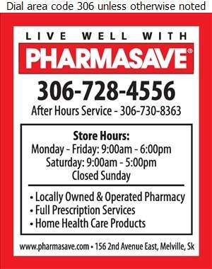 Pharmasave (After Hours Contact) - Pharmacies Digital Ad