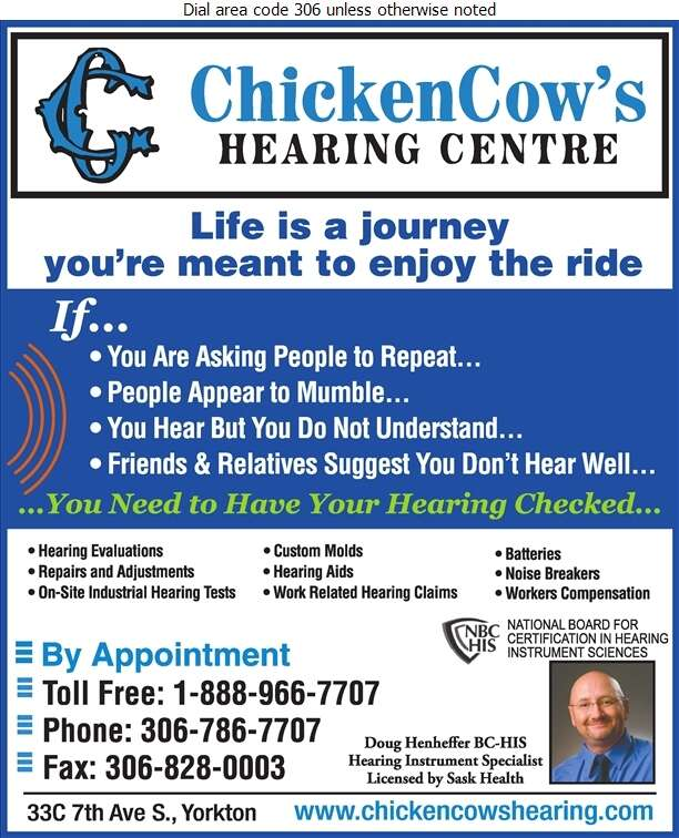 ChickenCow's Hearing Centre Ltd - Hearing Assessment & Hearing Aids Digital Ad