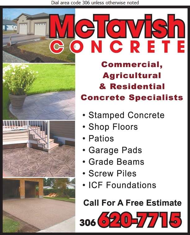 McTavish Concrete - Concrete Contractors Digital Ad