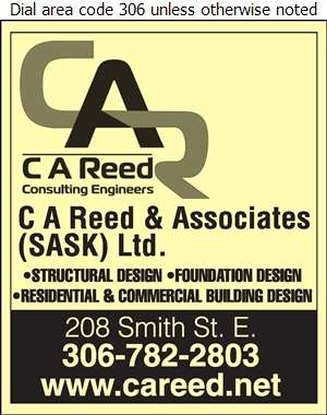 C A Reed & Associates (Sask) Ltd - Engineers Consulting Digital Ad