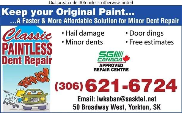 Classic Paintless Dent Repair - Auto Body Repairing Digital Ad