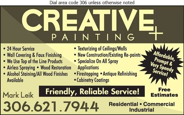 Creative Painting Plus - Painting Contractors Digital Ad