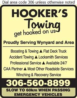 Hookers Towing & Recovery - Towing & Boosting Service Digital Ad