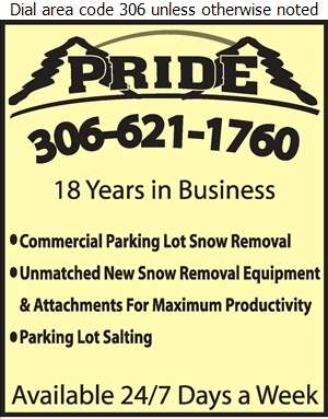 Pride Landscaping - Snow Removal Service Digital Ad