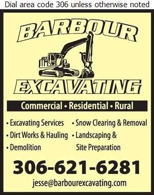 Barbour Excavating Inc - Excavating Contractors Digital Ad