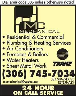 MC Mechanical Inc - Plumbing Contractors Digital Ad